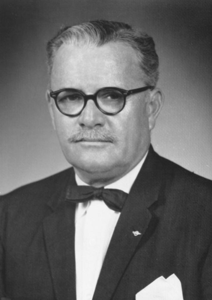Black and white photograph of Thomas P. Brady, 1954.
