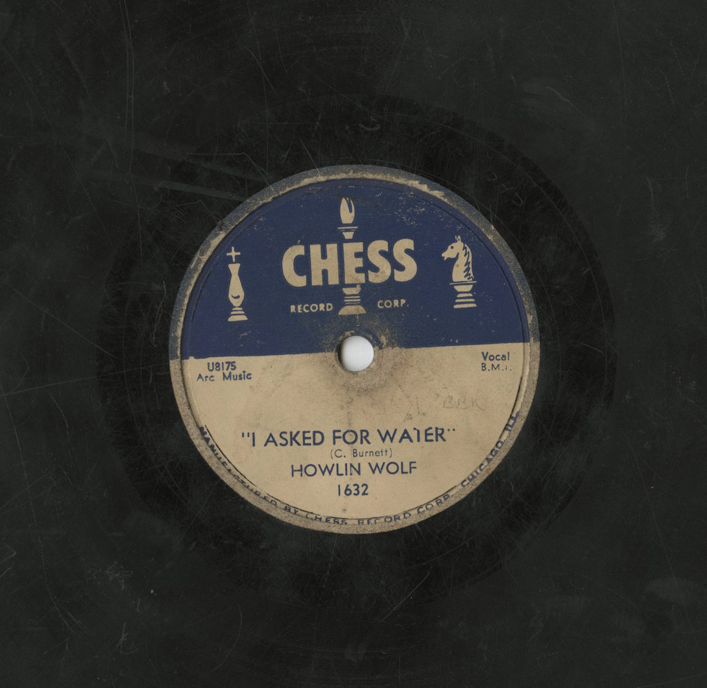 Color photograph of the record 'I Asked for Water' by Howlin' Wolf.