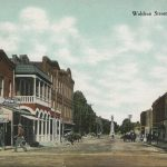 Colored postcard of Waldron St. in Corinth, MS, ca. 1908.