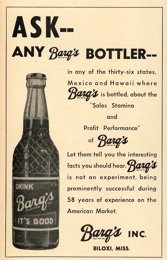 Barq's Root Beer advertisement.