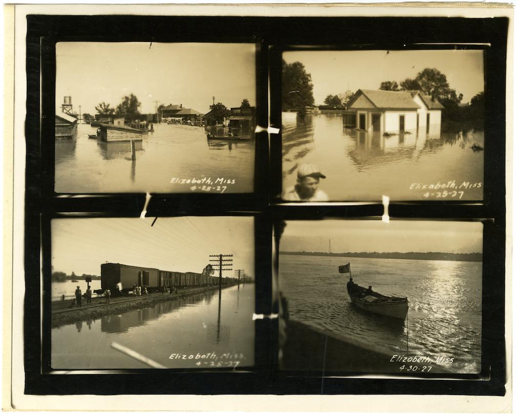 1927 Mississippi River Flood, Elizabeth, MS.